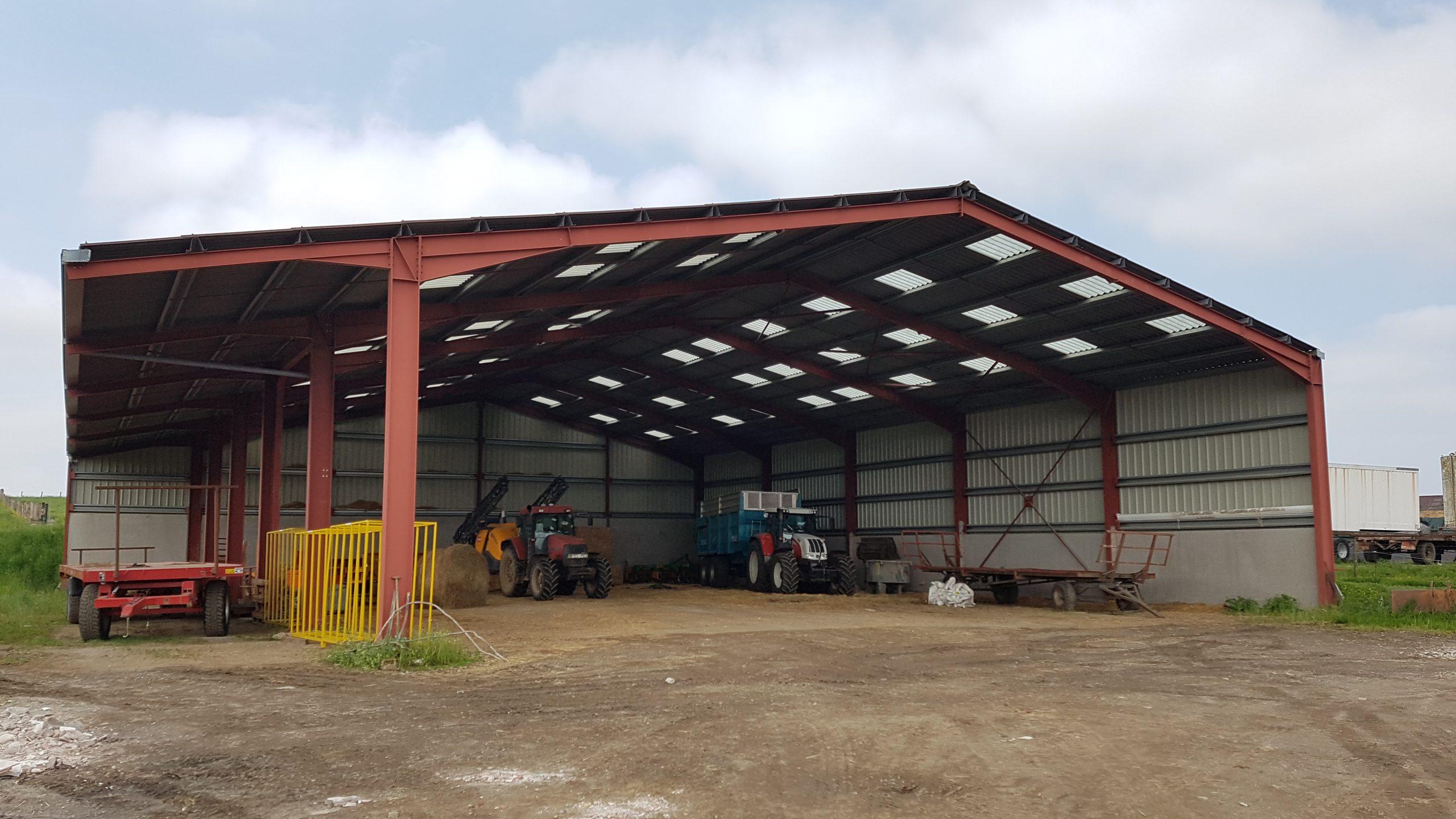 Bâtiment métallique de stockage & élevage (54)