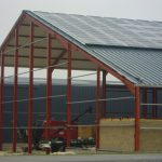 Bâtiment stockage avec toiture photovoltaïque