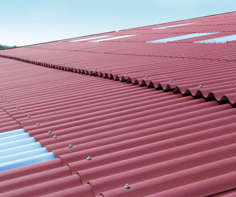 Couverture avec toiture fibrociment