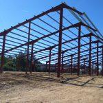 Hangar métallique pour stockage avec toiture photovoltaïque